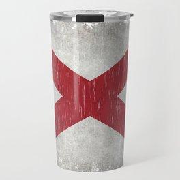 State flag of Alabama - Vintage version Travel Mug