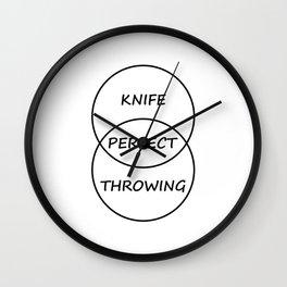 Knife Throwing Wall Clock