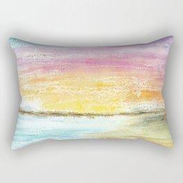 Magic Sunset Watercolor Art Rectangular Pillow