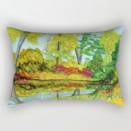 Hidden Reflection Rectangular Pillow
