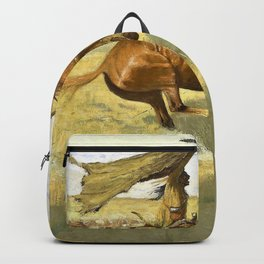 Frederic Remington - Change of Ownership-The Stampede, Horse Thieves - Digital Remastered Edition Backpack