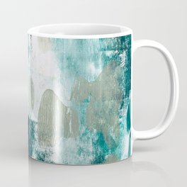 023.2: a vibrant abstract design in teal green and yellow by Alyssa Hamilton Art  Coffee Mug