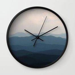 Watercolor Landscape, Niwot Ridge 01, Colorado Wall Clock