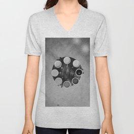 Coffee Circle (Black and White) Unisex V-Neck