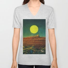 The Entire City by Max Ernst Unisex V-Neck