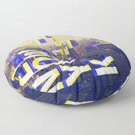 GLITCH CITY #00 NEW YORK Floor Pillow