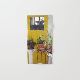 Yellow Door & Plants Hand & Bath Towel