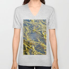Watercolor Algae, Bladder Wrack 07, Isafjardardjup, Iceland Unisex V-Neck