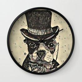 Aristocratic dog Wall Clock