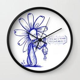 """""""It's Just Meat"""" Flowerkid Wall Clock"""