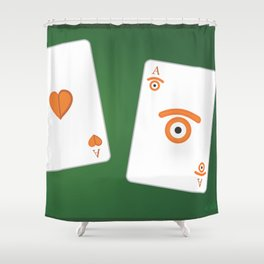 poker of glances Shower Curtain