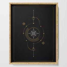 Tarot geometric #3: North star Serving Tray