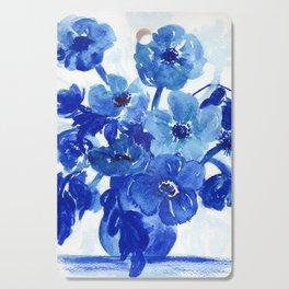 blue stillife Cutting Board