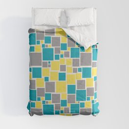 Funky Mosaic Pattern V5 Pantone 2021 Colors of the Year and Accent Hues Comforters