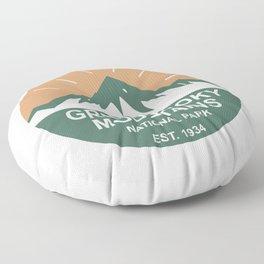 Great Smoky Mountains National Park Floor Pillow