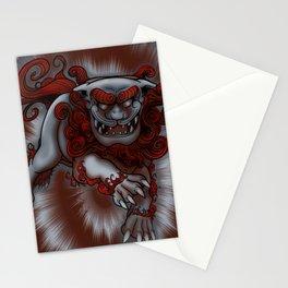 Lunging Komainu Stationery Cards
