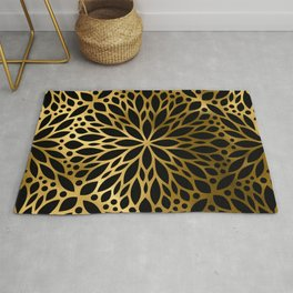 Hollywood Classically Ornate Art Deco Pattern Rug