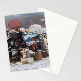 village border Stationery Cards
