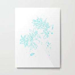OB Turquoise Metal Print