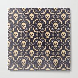 Happy halloween skull pattern Metal Print