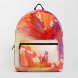 Bright Hibiscus Floral Water color Backpack