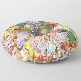 The Fuzzy Crowd Floor Pillow
