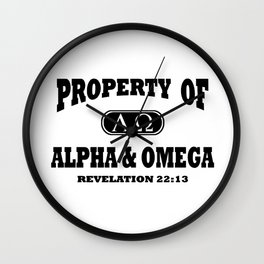 Property of Alpha and Omega (Black) Wall Clock