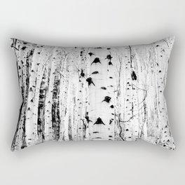 Black and White Aspen Trees Rectangular Pillow