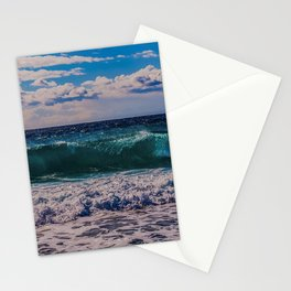 Big Surf at Blue Shutters Beach, Rhode Island Stationery Cards