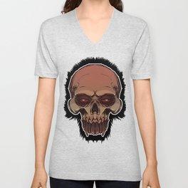 Skull cartoon Unisex V-Neck