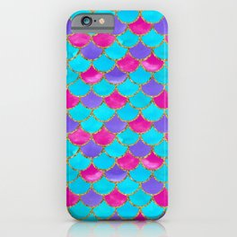 Mermaid Scales | Hot Pink and Turquoise iPhone Case