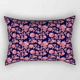 Pomegranates and Seeds - Navy Rectangular Pillow