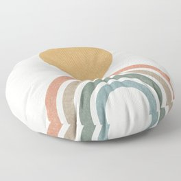 Mid-Century Modern Rainbow Floor Pillow