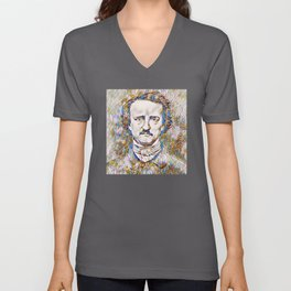 Edgar Allan Poe rare photo Unisex V-Neck