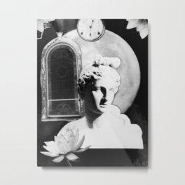 Goddess and the Moonflowers II Metal Print
