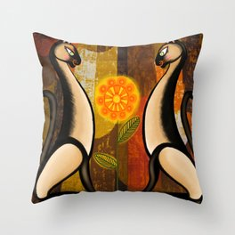 These Cats Are Where It's At Throw Pillow
