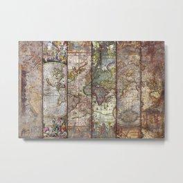 Old Times (World Map) Metal Print