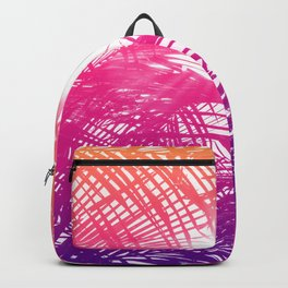 Tropical Orange Pink and Purple Palm Fronds Backpack