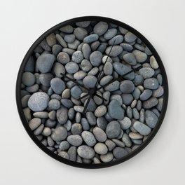 Gray pebbles Wall Clock