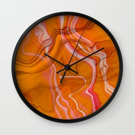 Abstract Magma Lava Flow Marble Texture Wall Clock