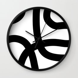 Shadow and Lines Wall Clock