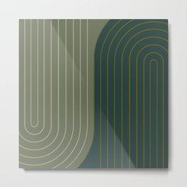 Two Tone Line Curvature XXXVII Metal Print
