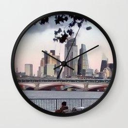 River thames, London. Wall Clock