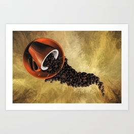 Spill The Coffee Beans Art Print