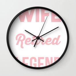Womens Wife of Firefighter - Retired Fireman Wall Clock