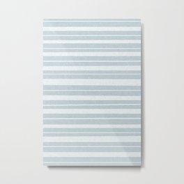 sydney stripes irregular - coastal blue Metal Print