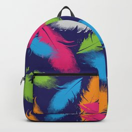 Bright Falling Feathers Backpack