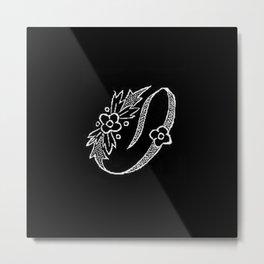 O Monogram Metal Print