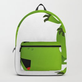 Green Tyrannosaurus Dinosaur Cartoon Backpack