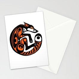Fomline fox - circular coloured Stationery Cards